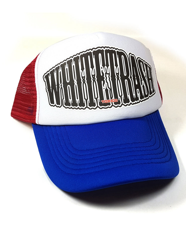 Toxico Whitetrash Blue & Red Trucker Cap