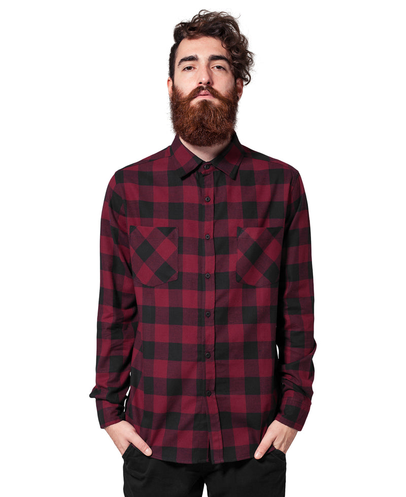 Black Burgundy Check Lumberjack Rockabilly Shirt | Rebel Rebel Bruges