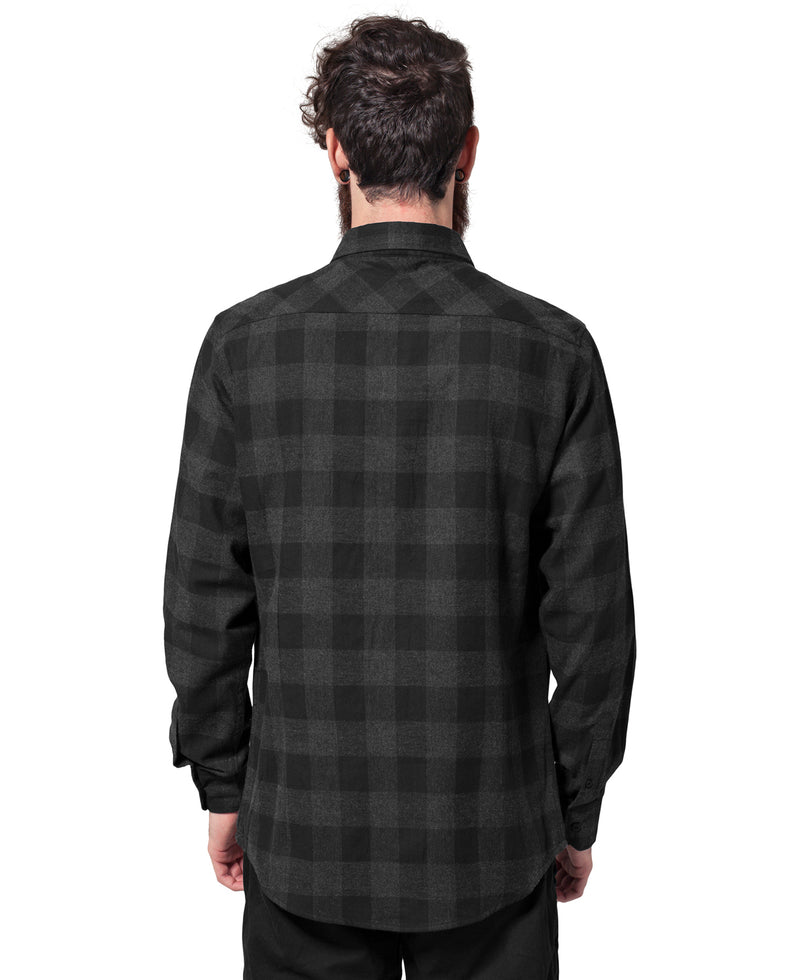 Black Charcoal Check Lumberjack Rockabilly Shirt | Rebel Rebel Bruges