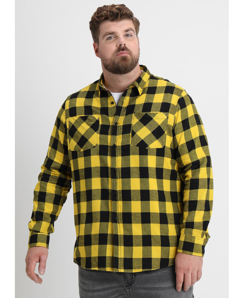 Black & Honey Check Lumberjack Rockabilly Shirt | Rebel Rebel Bruges