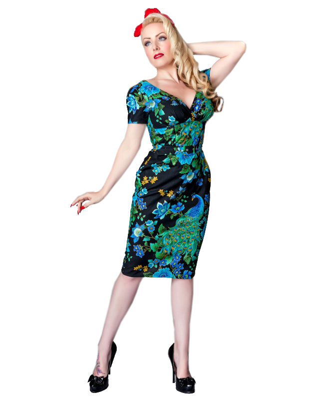Victory Parade Pretty As A Peacock Pencil Dress