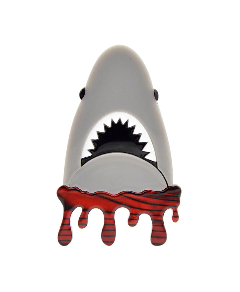 Vaudeville Rebel Bigger Boat Jaws Shark Acrylic Brooch | Rebel Rebel Bruges