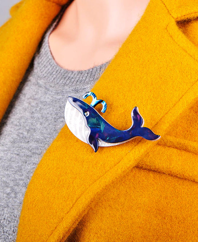 Vaudeville Rebel Moby Dick Whale Acrylic Brooch | Rebel Rebel Bruges