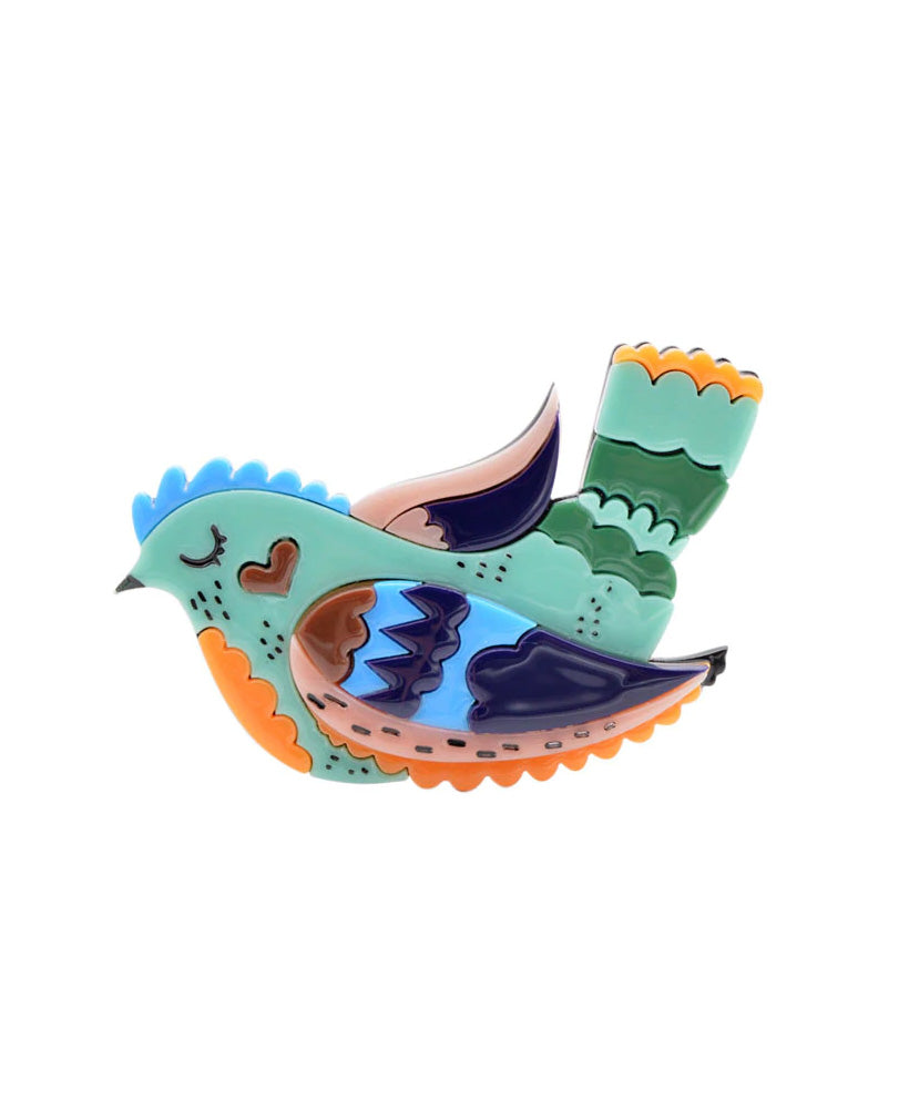 Vaudeville Rebel Sleepy Swallow Acrylic Brooch | Rebel Rebel Bruges