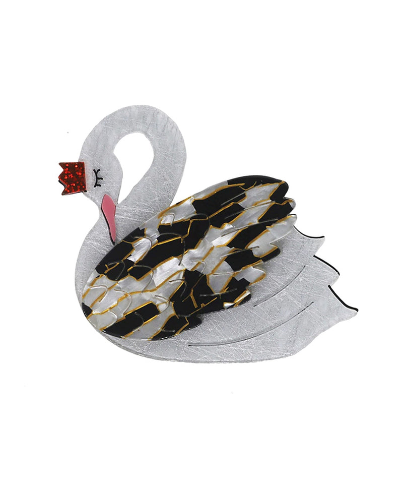 Vaudeville Rebel Bird of Bruges Swan Bird Acrylic Brooch | Rebel Rebel Bruges