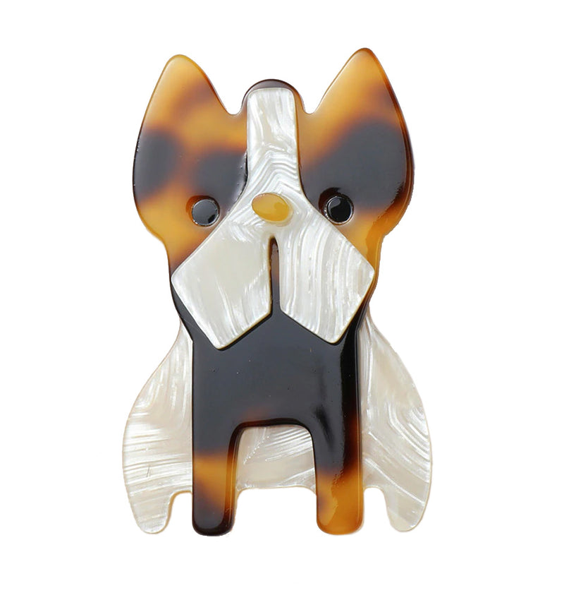 Vaudeville Rebel French Bulldog Acrylic Brooch | Rebel Rebel Bruges