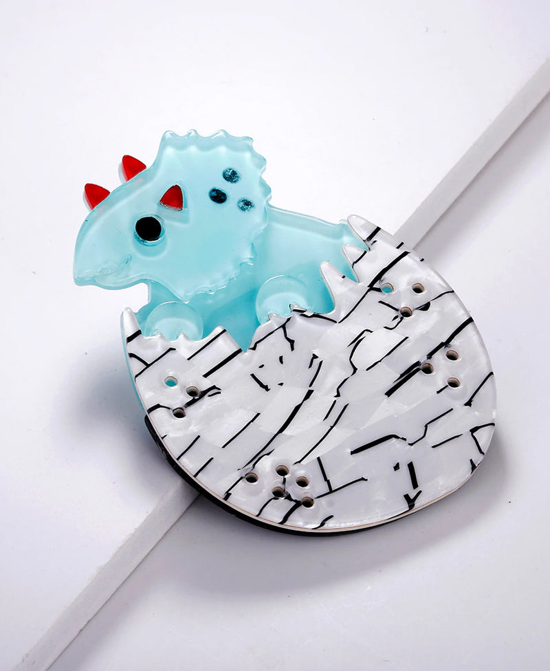 Vaudeville Rebel Teeny Triceratops Acrylic Brooch | Rebel Rebel Bruges
