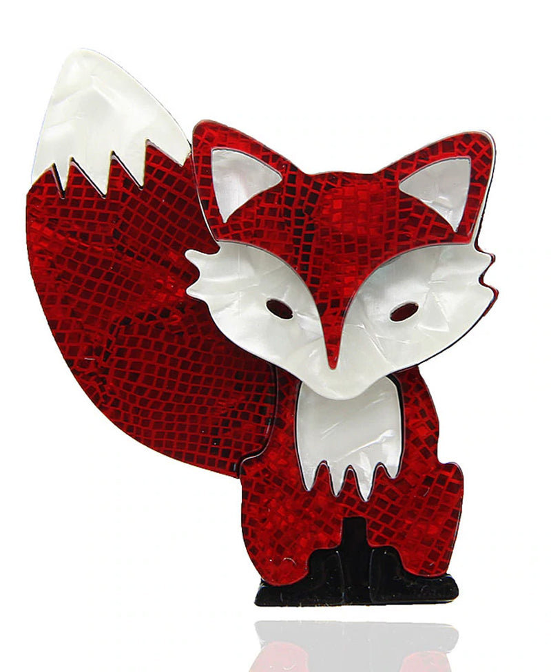 Vaudeville Rebel Vixen Fox Acrylic Brooch | Rebel Rebel Bruges