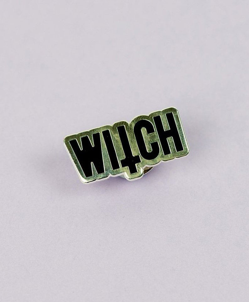 Vaudeville Rebel Witch Enamel Jacket Bag Pin | Rebel Rebel Bruges