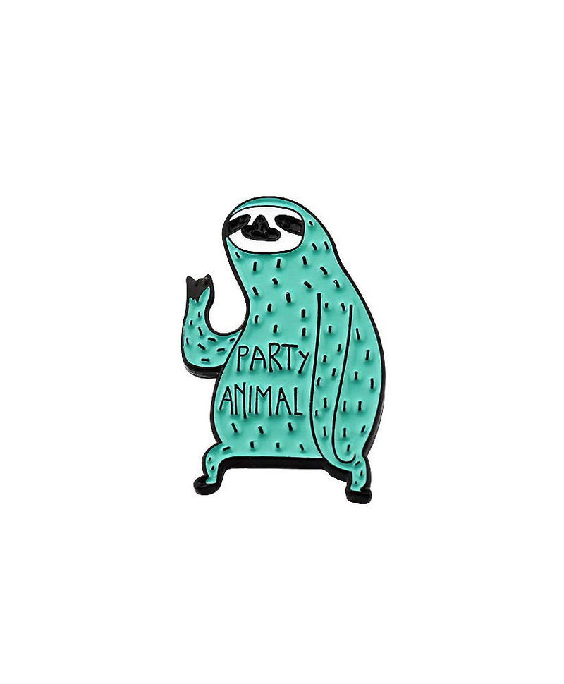 Vaudeville Rebel Party Animal Sloth Enamel Pin | Rebel Rebel Bruges