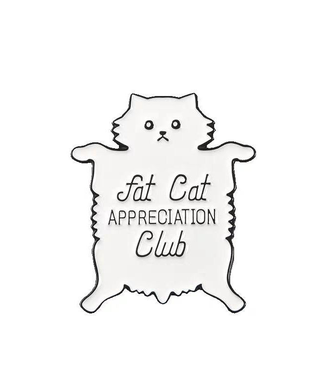 Vaudeville Rebel Fat Cat Appreciation Club Enamel Pin | Rebel Rebel Bruges