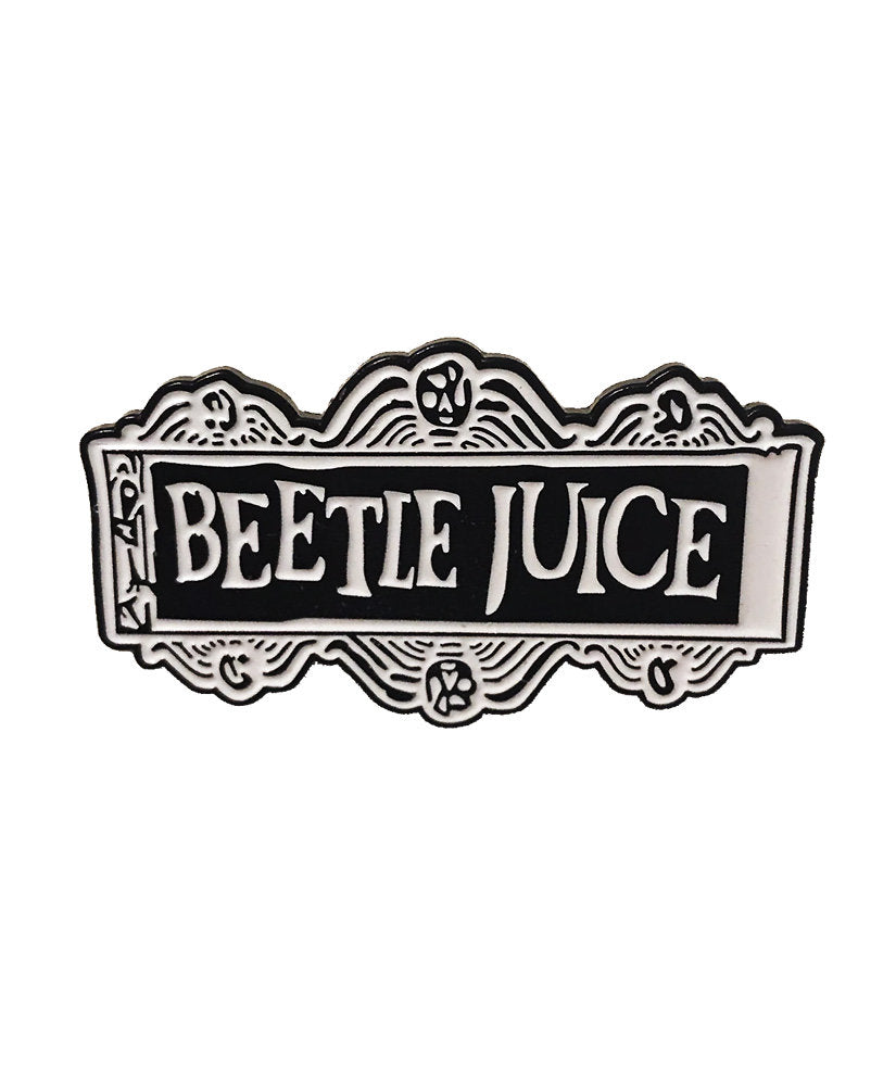 Vaudeville Rebel Beetlejuice Enamel Jacket Pin | Rebel Rebel Bruges