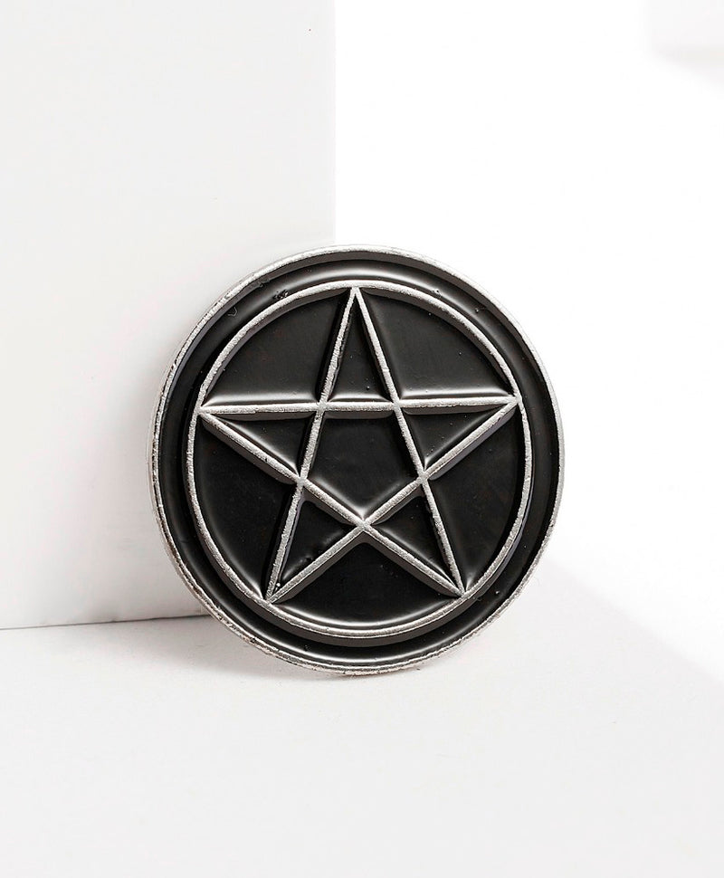 Vaudeville Rebel Pentagram Star Enamel Jacket Pin | Rebel Rebel Bruges