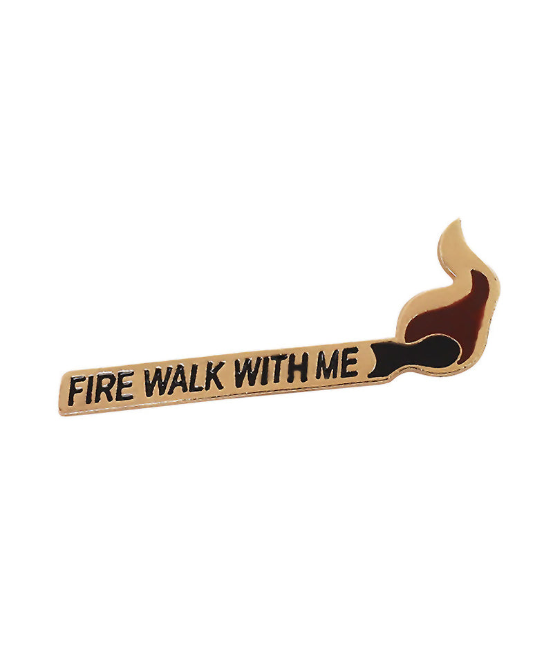Vaudeville Rebel Fire Walk With Me Twin Peaks Enamel Pin | Rebel Rebel Bruges