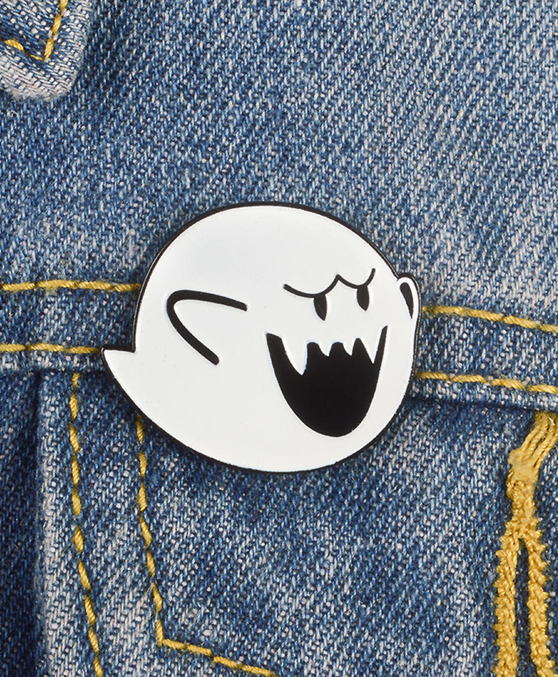 Vaudeville Rebel Super Mario Boo Ghost Enamel Pin | Rebel Rebel Bruges