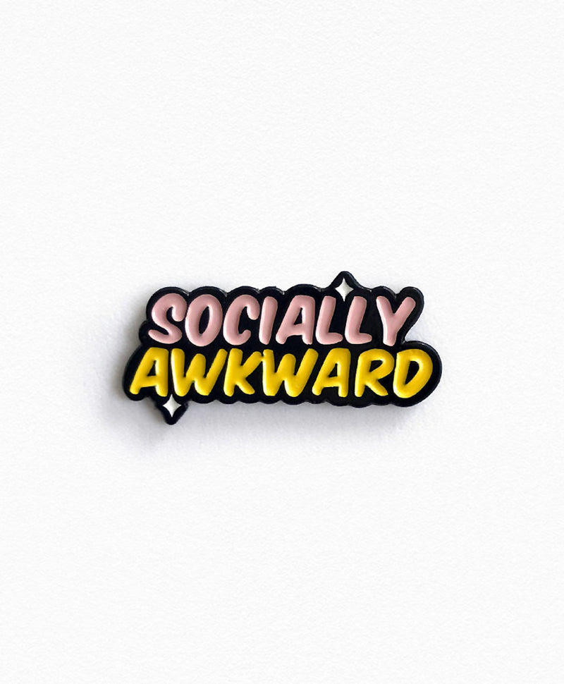 Vaudeville Rebel Socially Awkward Enamel Pin | Rebel Rebel Bruges