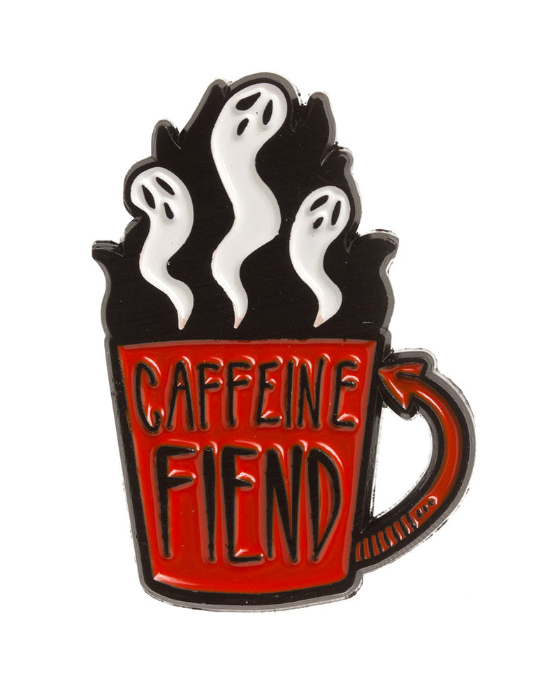 Vaudeville Rebel Caffeine Fiend Ghosts Enamel Pin | Rebel Rebel Bruges