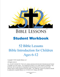 52 Bible Lessons: Bible Introduction for Children (Digital PDF-Download, Teacher & Student Workbook)