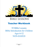 52 Bible Lessons: Bible Introduction for Children (Teacher/Student Printed Combo with CD)