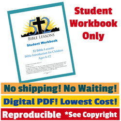52 Bible Lessons: Bible Introduction for Children (Digital PDF-Download, Student Workbook)