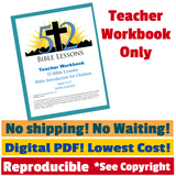 52 Bible Lessons: Bible Introduction for Children (Digital PDF-Download, Teacher Workbook)