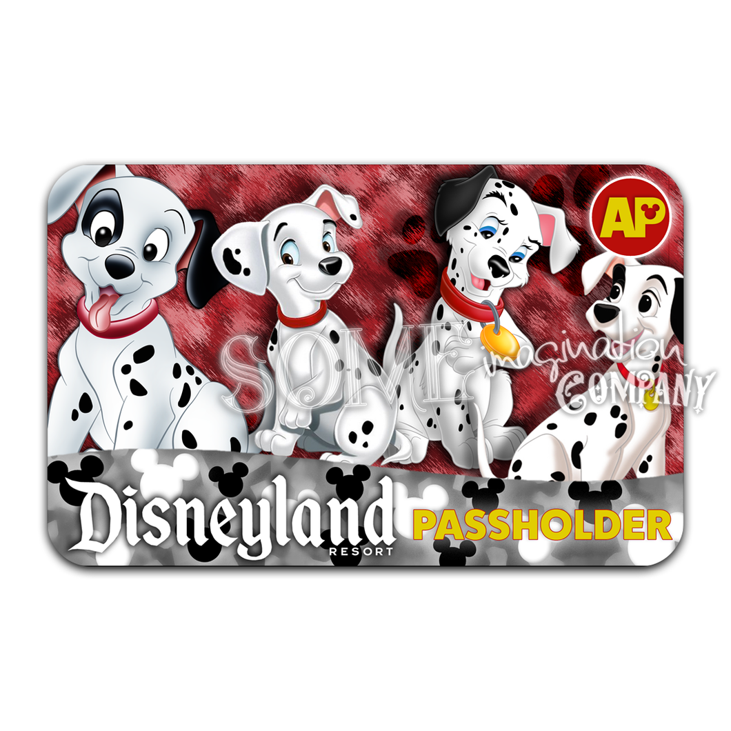 101 Dalmations Disneyland Passholder Sticker