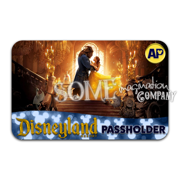 Beauty and the Beast 2017 Disneyland Passholder Sticker