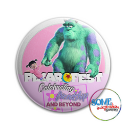 Boo & Sulley Celebrating Friendship Pixar Fest Button