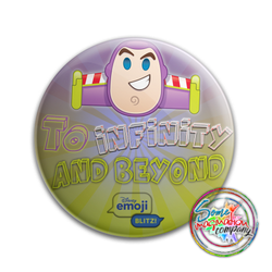 Buzz Lightyear To Infinity and Beyond! EmojiBLITZ! Button