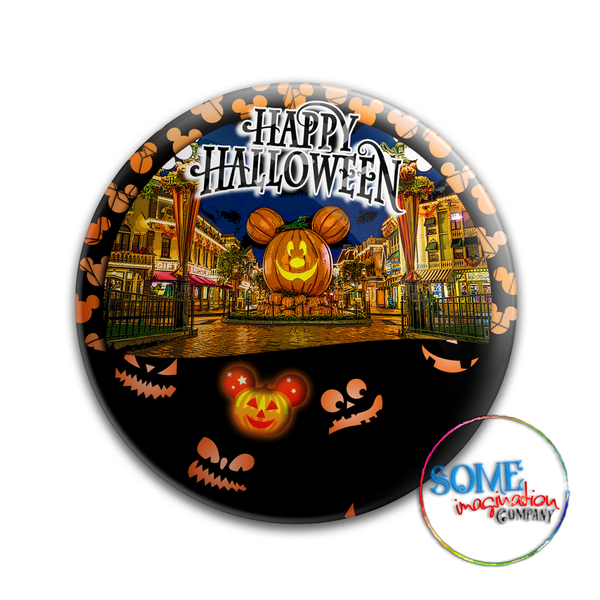 Disneyland Park Happy Halloween Button