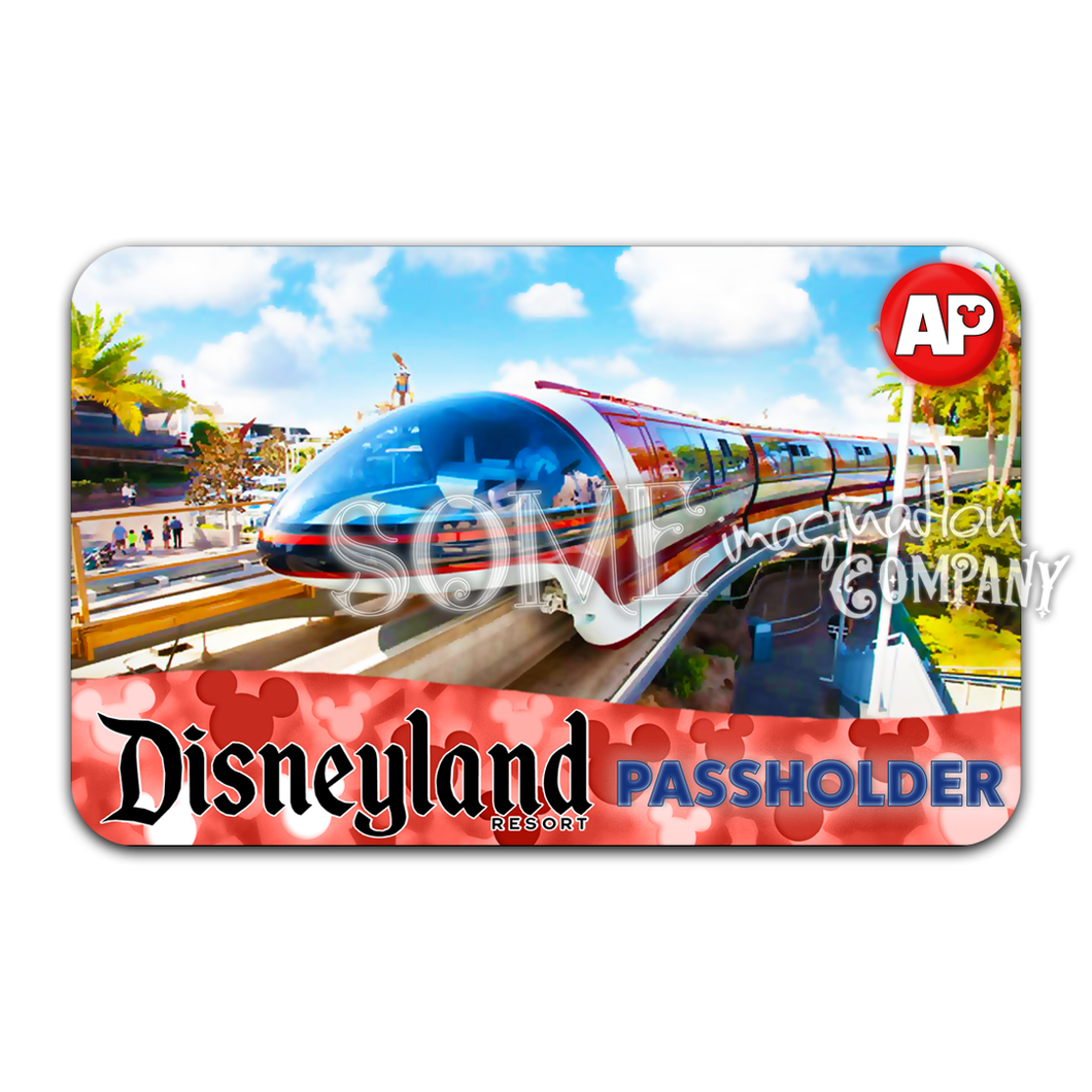 Disneyland Monorail Passholder Sticker