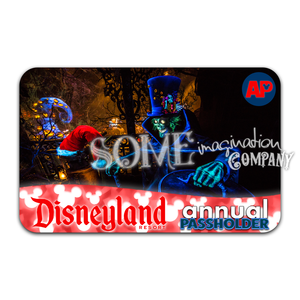 Holiday Hatbox Ghost Disneyland Passholder Sticker