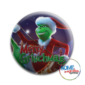 Merry Grinchmas Button