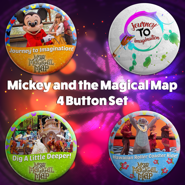 Mickey and the Magical Map 4 Button Set