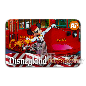 Mickey & the Red Car Trolley Disneyland Passholder Sticker
