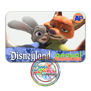 Nick and Judy Disneyland Passholder Sticker