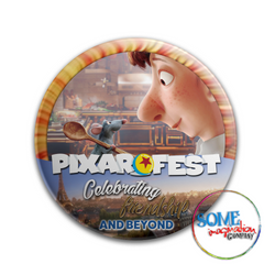Remy and Linguini Celebrating Friendship Pixar Fest Button