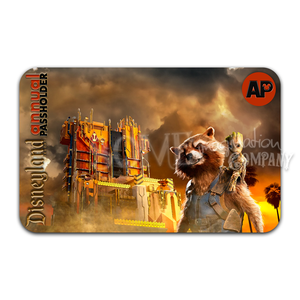 Rocket & Groot Guardians of the Galaxy Mission: BREAKOUT! Disneyland Passholder Sticker