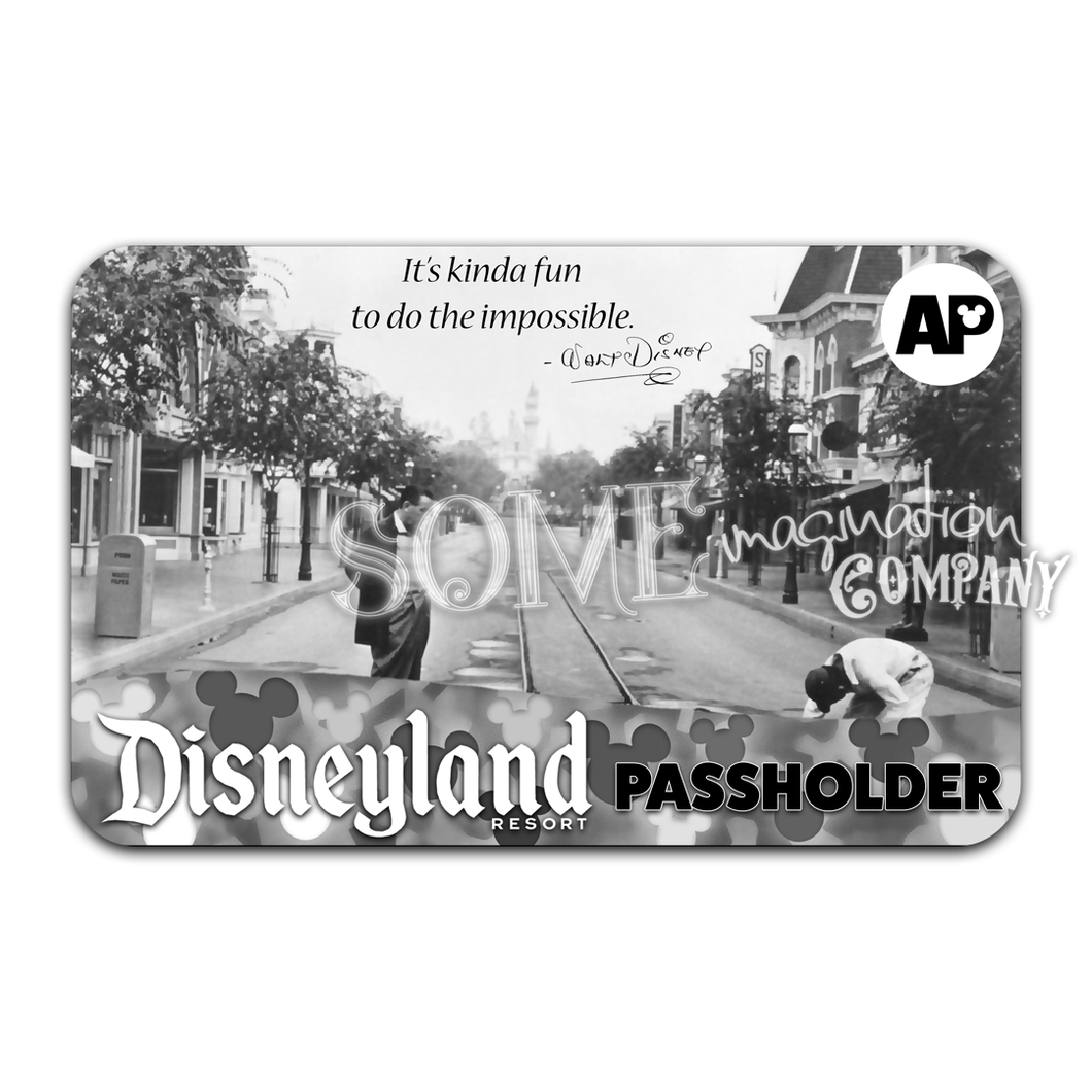 Walt Disney The Impossible Disneyland Passholder Sticker