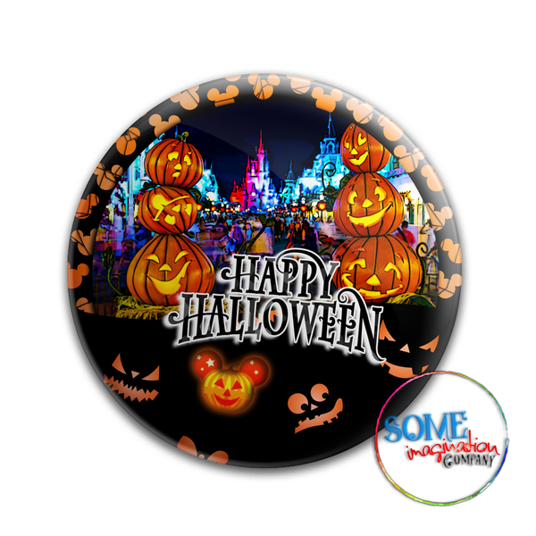 Magic Kingdom Park Happy Halloween Button