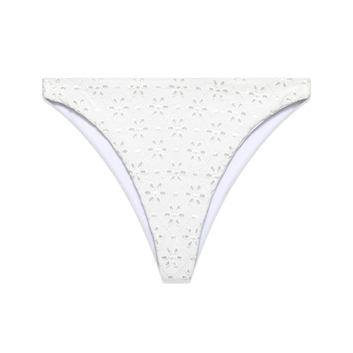The Edie Bottom in White Eyelet