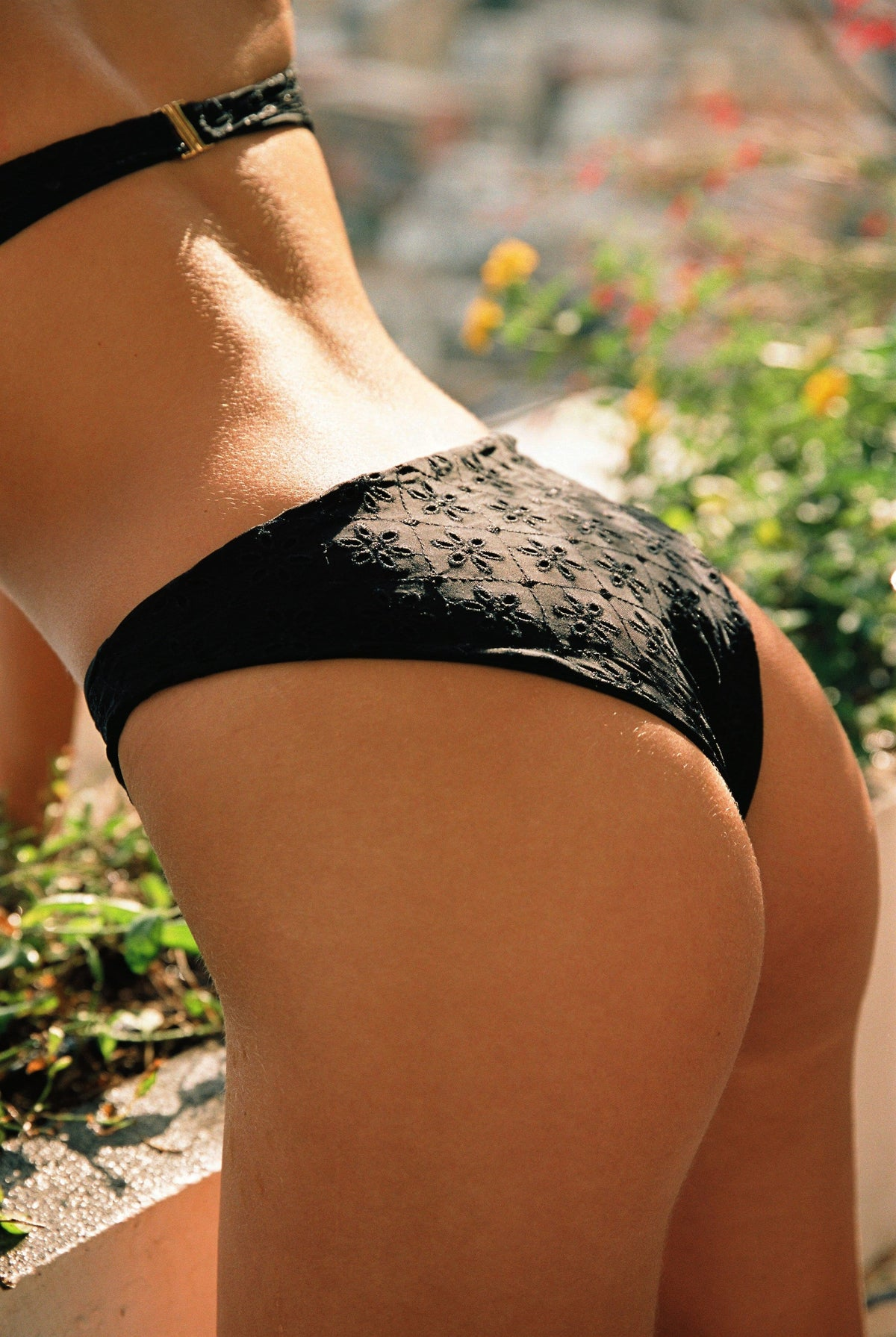 The Edie Bottom in Black Eyelet