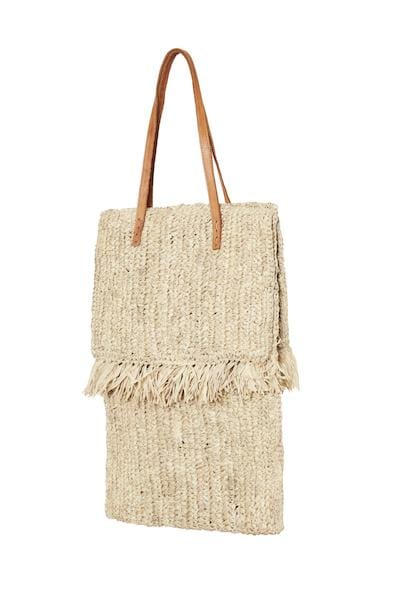 THE LEXI FRINGE TOTE -NATURAL