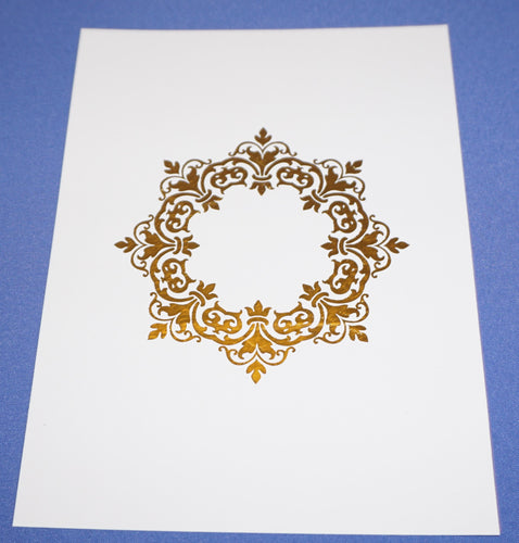 Damask Foil Art- Design 2 (Gold, Rose Gold or Silver ONLY | 4x6 or 5x7)