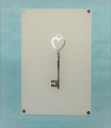 Heart Key Foil Art (Gold, Rose Gold or Silver ONLY | 4x6 or 5x7 | Landscape)