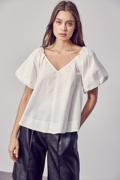 KATE BUBBLE SLEEVE TOP