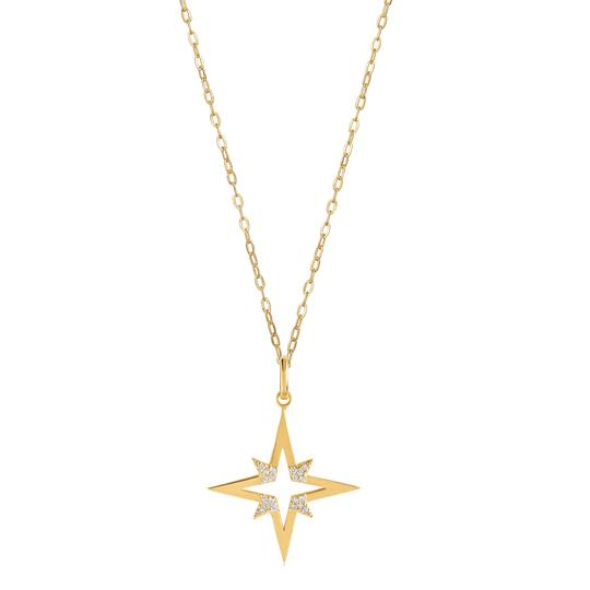 8 POINT STAR PENDANT 25MM