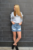 NASHVILLE DENIM MINI SKIRT