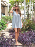 ADORA CLOUD BLUE EYELET ROMPER