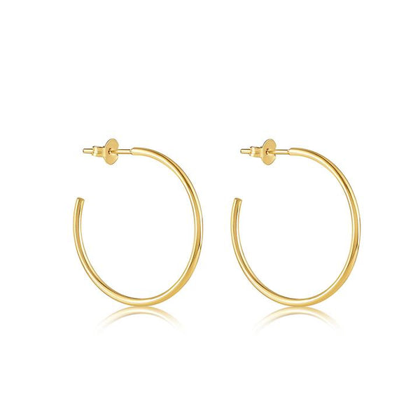 SMALL THIN VDO HOOP EARRING 1""